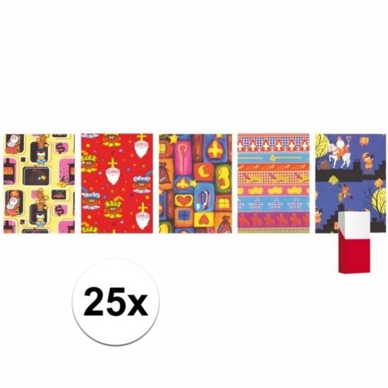 25 rollen Sinterklaas inpakpapier - cadeaupapier