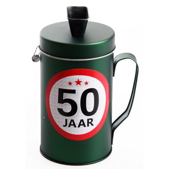 50 jaar kado spaarpot/ collectebus