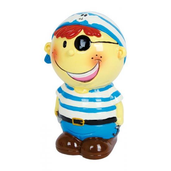 Blauwe piraat spaarpotje van porselein