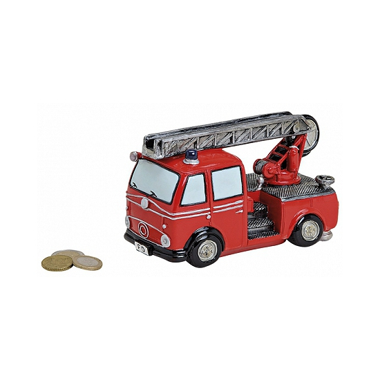 Brandweerauto spaarpot 16 cm