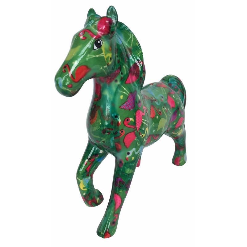 Dieren spaarpot paard groen