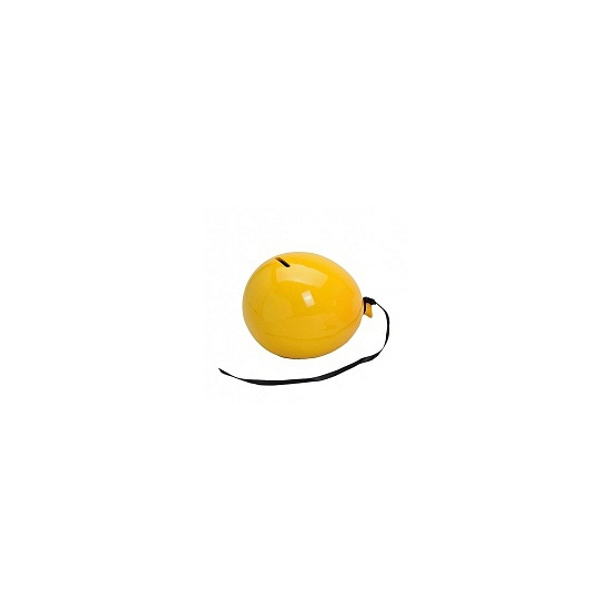 Gele spaarpot ballon
