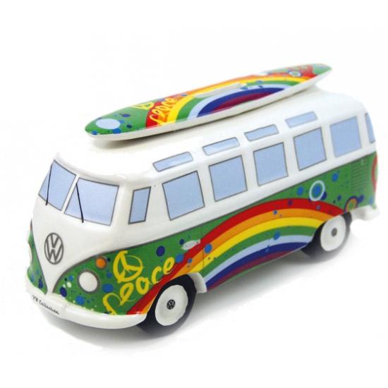Peace VW bus spaarpotten 21 cm