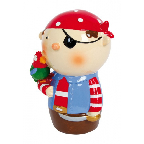 Rode piraat spaarpotje van porselein