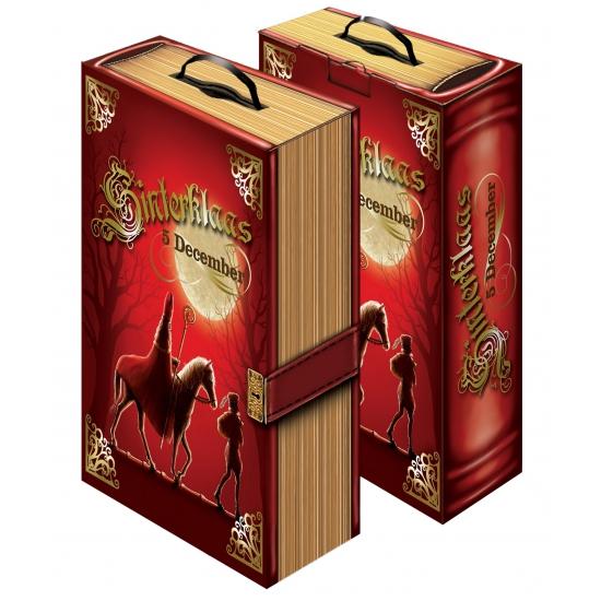 Sinterklaas versiering kartonnen boek