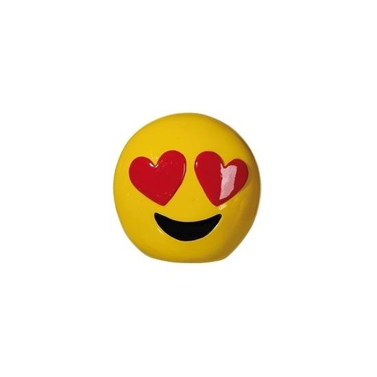 Smiley hartjes ogen spaarpot 13 cm
