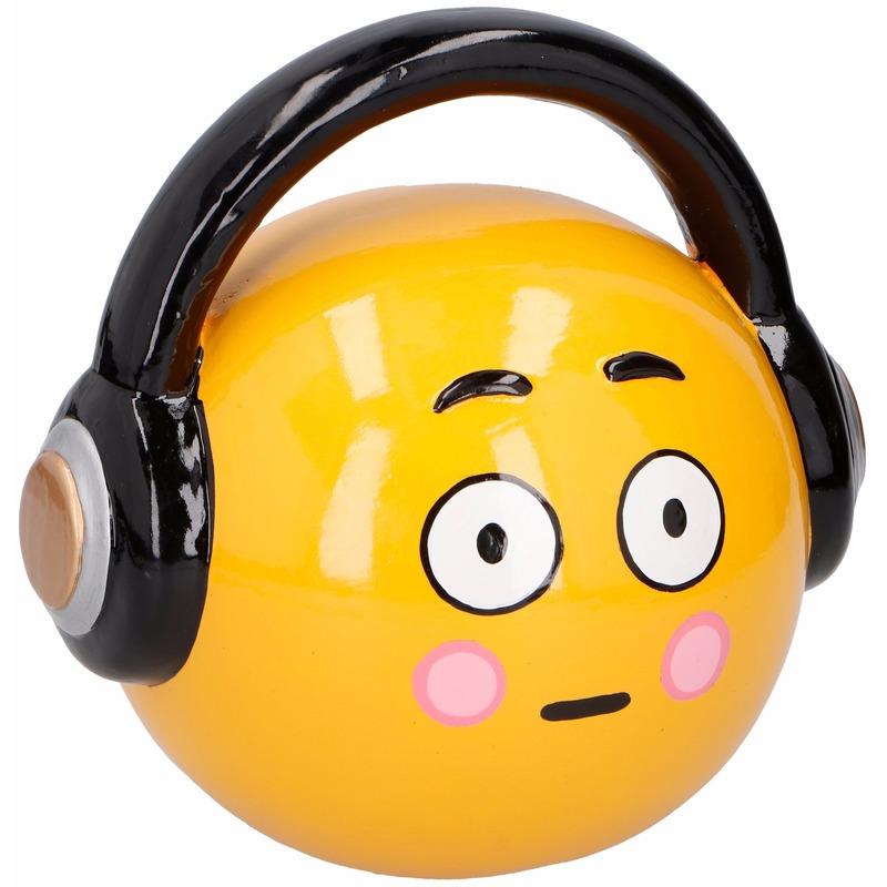 Smiley headphone spaarpot 17 cm