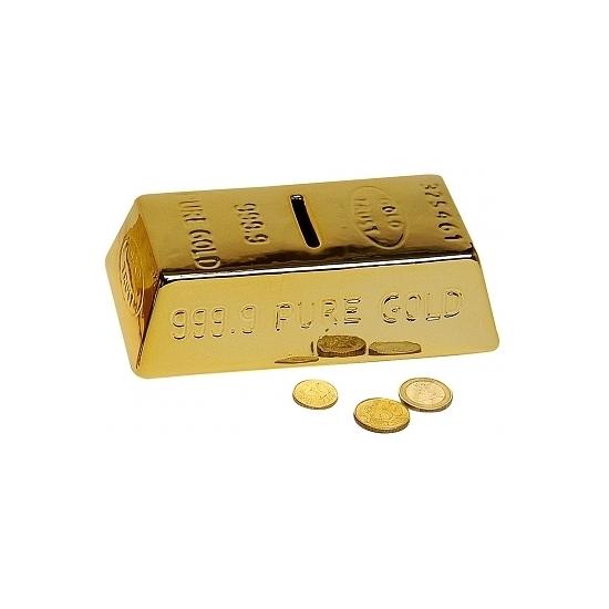 Spaarpot als goudstaaf