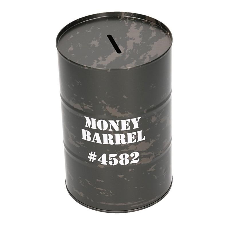 Spaarpot money barrel zwart