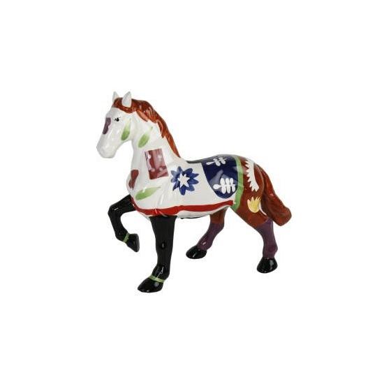 Spaarpot pony wit bruin