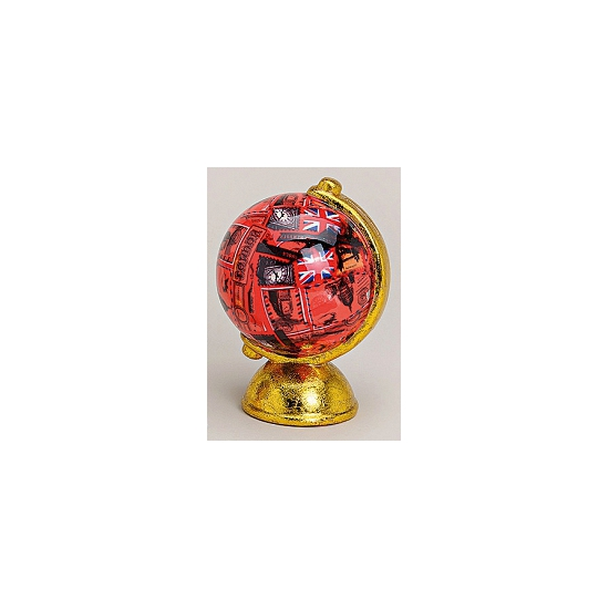 Spaarpot rode wereldbol