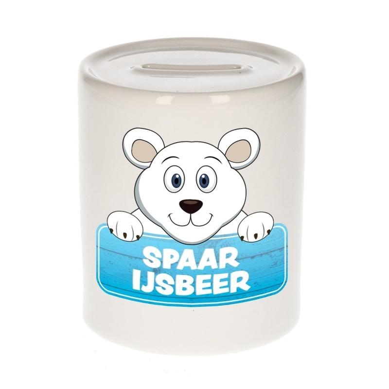 Spaarpot van de spaar ijsbeer Teddy Cool 9 cm