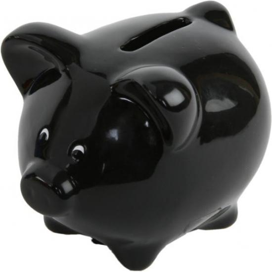 Spaarpot varken zwart
