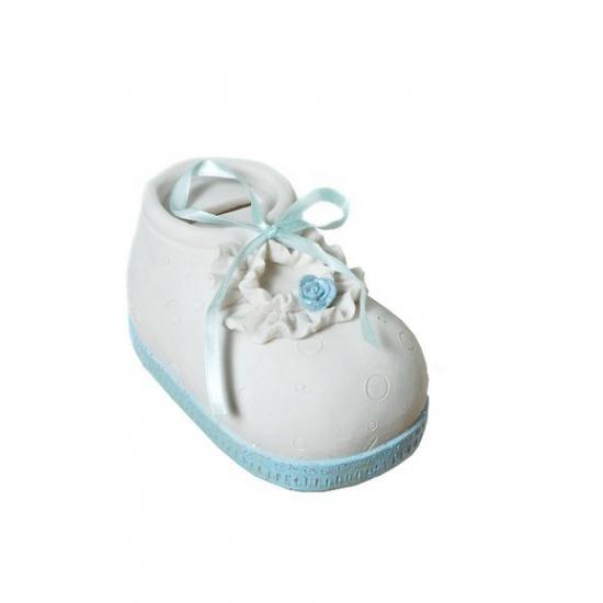 Spaarvarken blauwe babyschoen