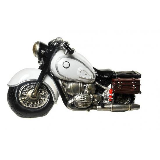 Spaarvarken motor wit