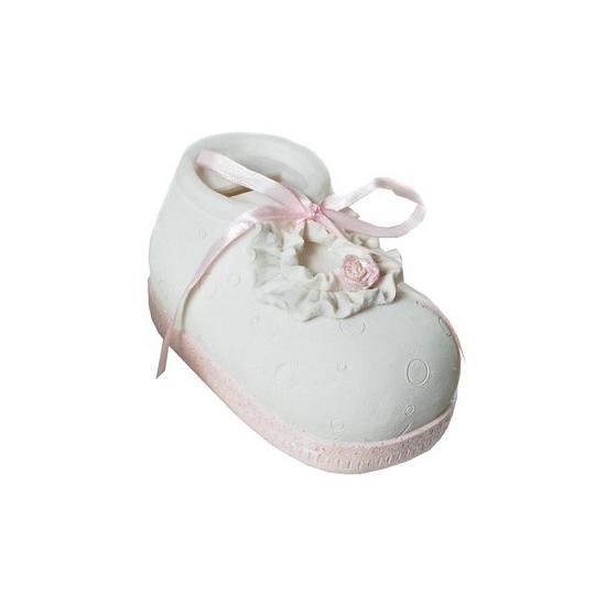 Spaarvarken roze babyschoen