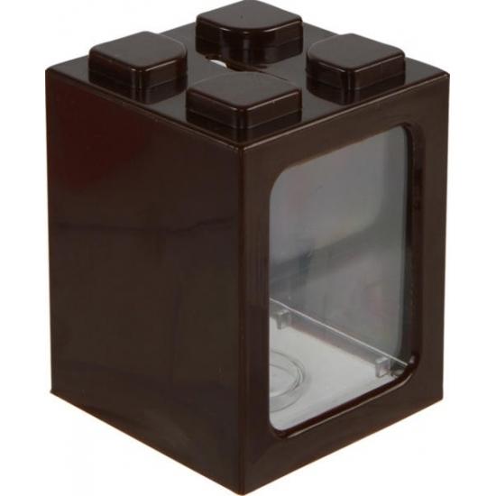 Stapelbare spaarpot bruin 11 cm