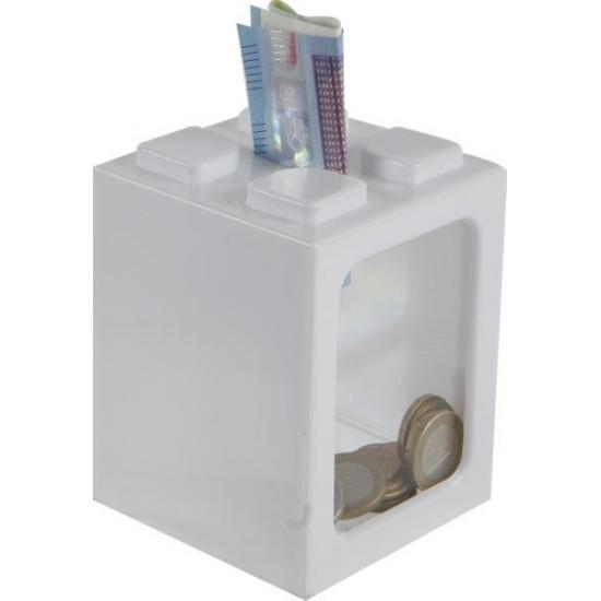 Stapelbare spaarpot wit 11 cm
