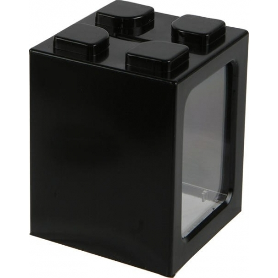 Stapelbare spaarpot zwart 11 cm