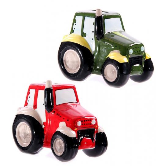 Tractor spaarpotje 12 cm