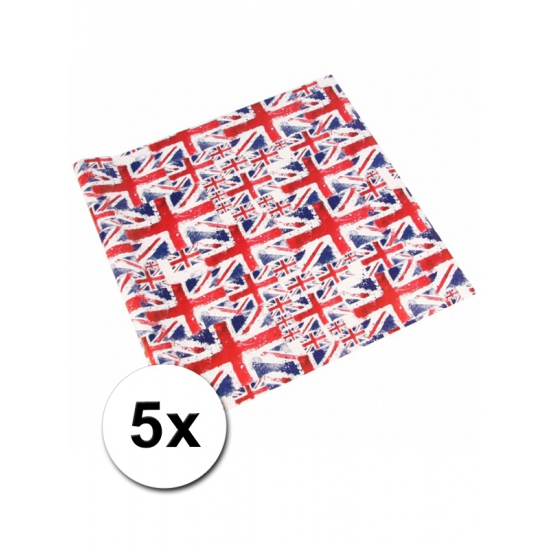 Verjaardagskado inpakpapier Union Jack
