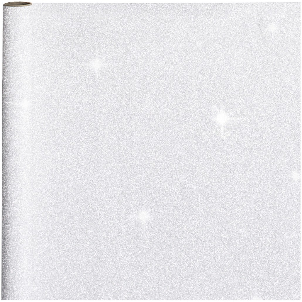 10x stuks kerst cadeaupapier zilveren glitters 70 x 150 cm