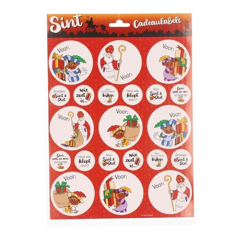 18x Sinterklaas cadeau etiketten