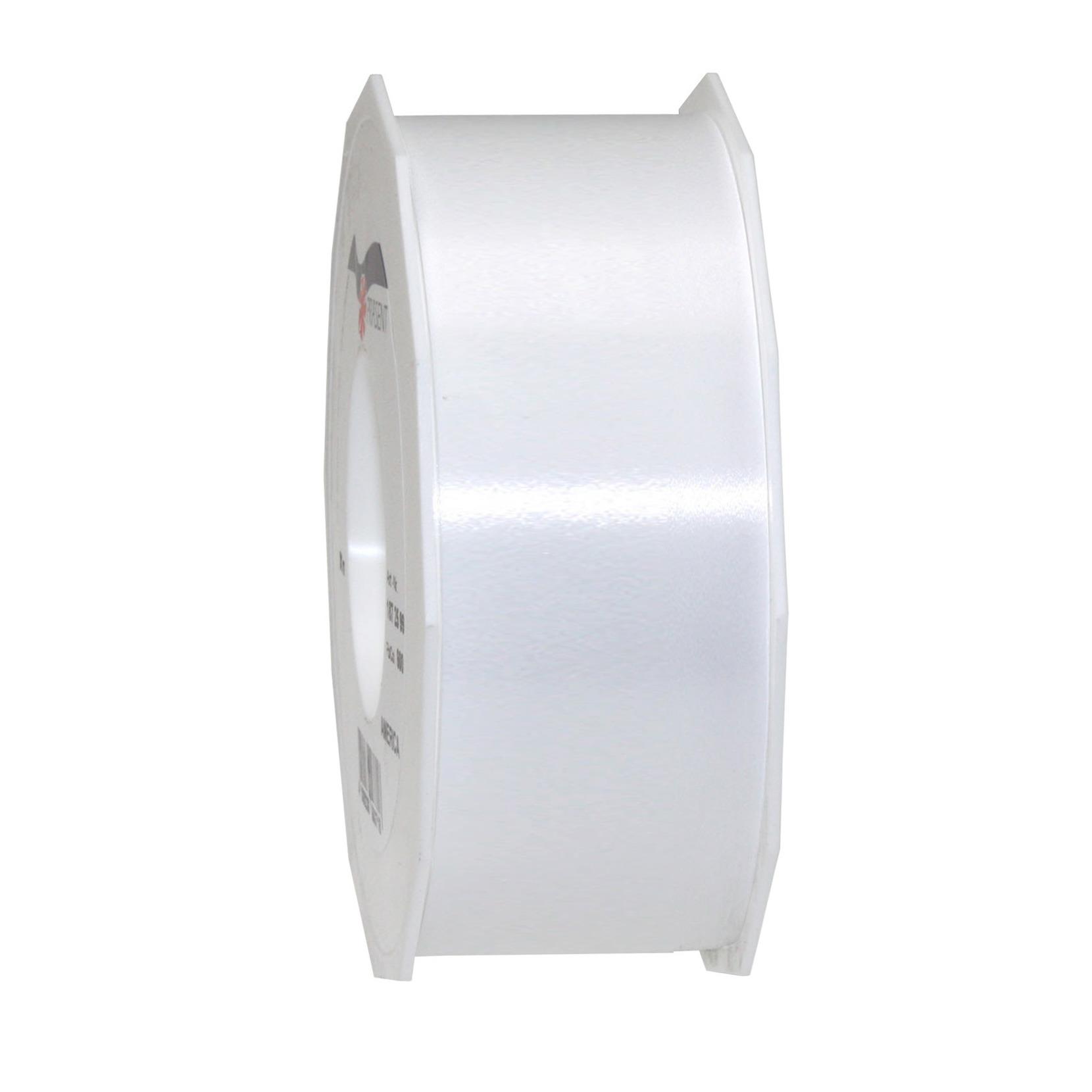 1x Luxe zilveren satijnlint rollen 4 cm x 91 meter cadeaulint verpakkingsmateriaal