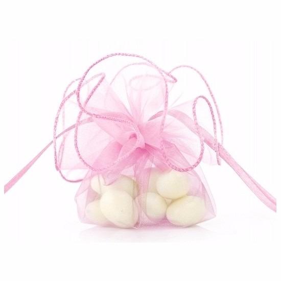 20x stuks Bruiloft bedankjes zakjes roze 26 cm