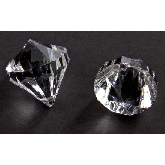 2x stuks Decoratie diamantjes transparant 30 mm