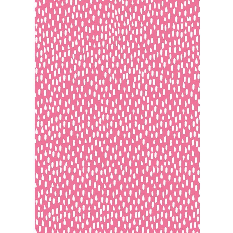 3x Verjaardagscadeau inpakpapier roze met witte streepjes 70 x 200 cm