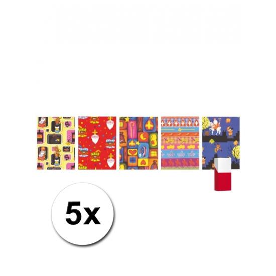 5 rollen Sinterklaas inpak papier