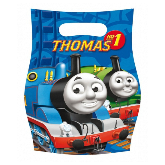 6x stuks Thomas de Trein snoepzakjes kinder verjaardag