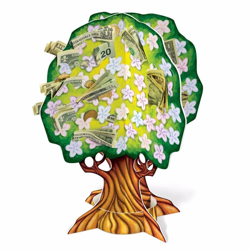 Babyshower kado geldboom 38 cm