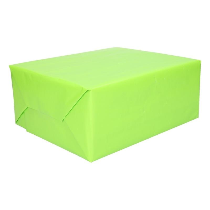Cadeaupapier lichtgevend groen 200 cm