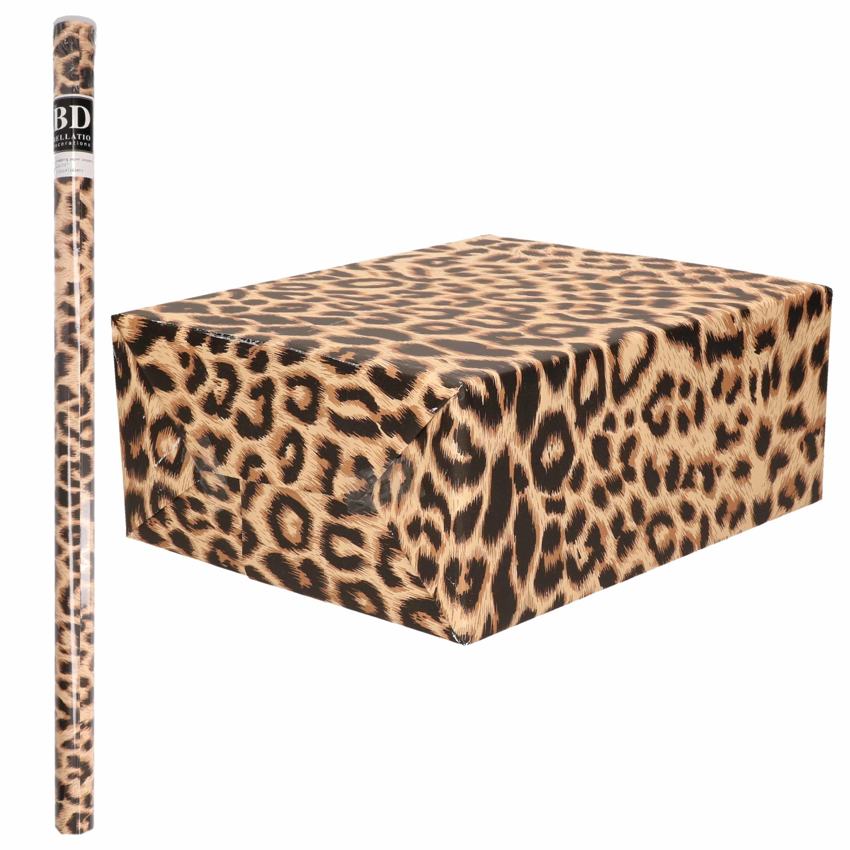 Cadeaupapier panterprint/luipaardprint 200 cm