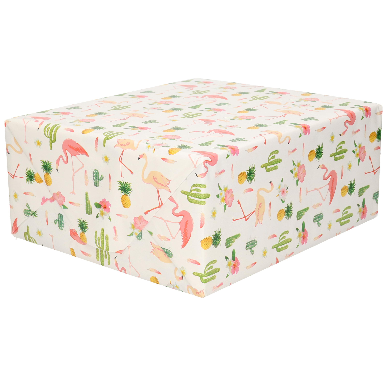 Cadeaupapier tropische print 200 x 70 cm