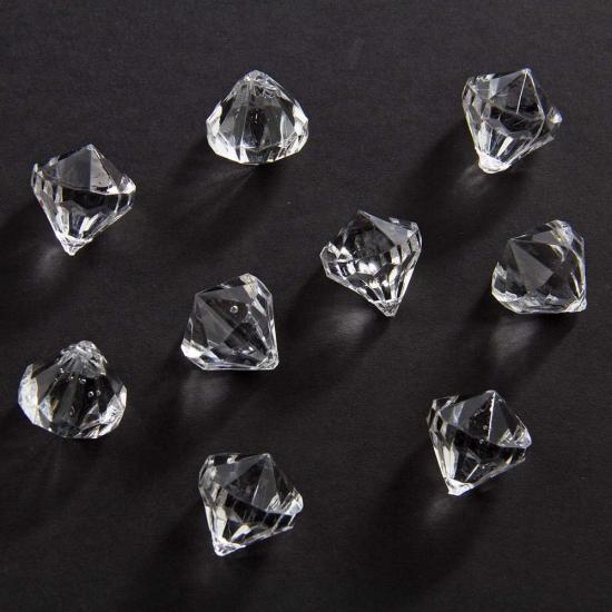 Decoratie diamantjes transparant 20 mm