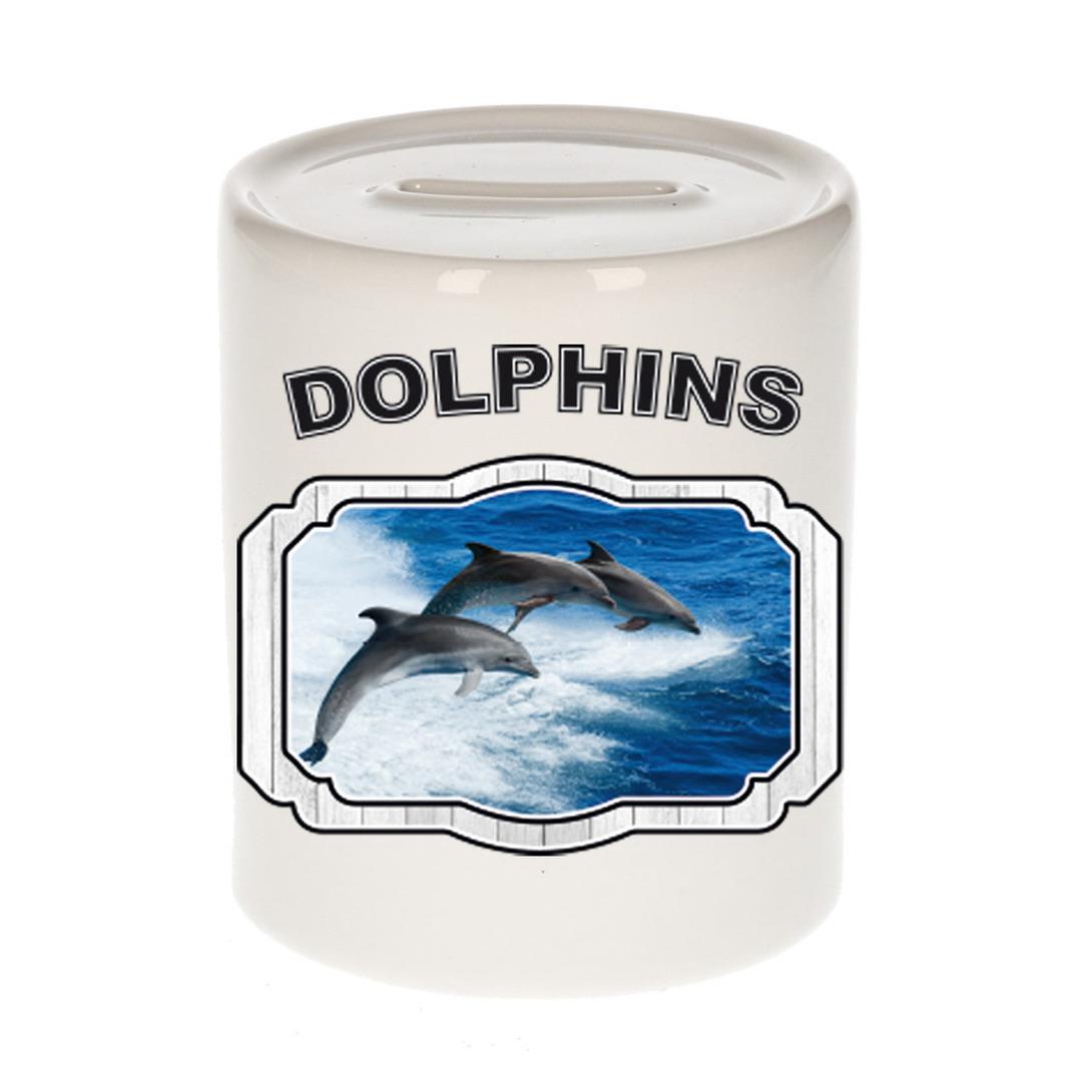 Dieren liefhebber dolfijn groep spaarpot - dolfijnen cadeau
