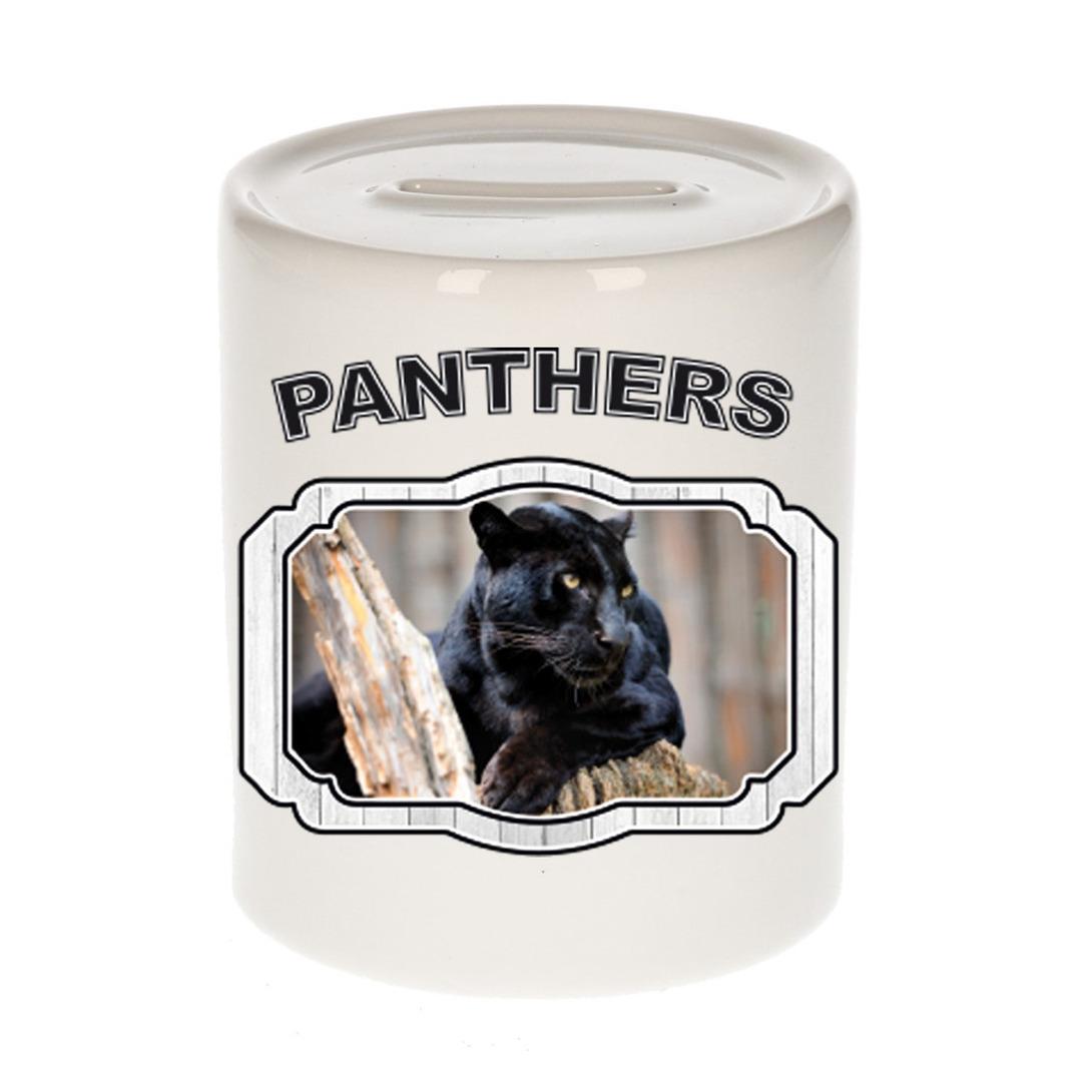 Dieren liefhebber zwarte panter spaarpot - panters cadeau