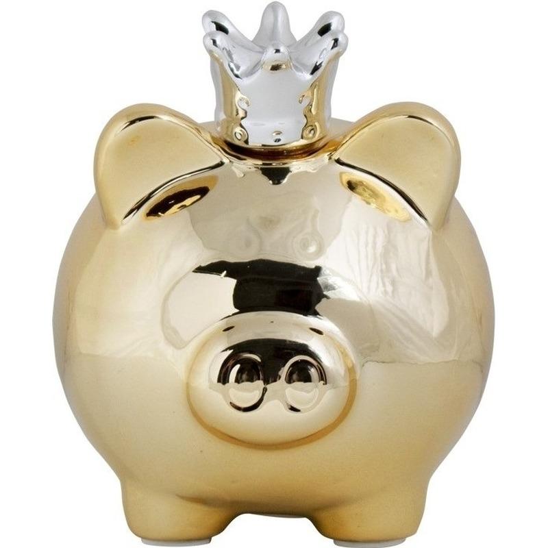 Dieren spaarpot goud varken/big voor kinderen/volwassenen