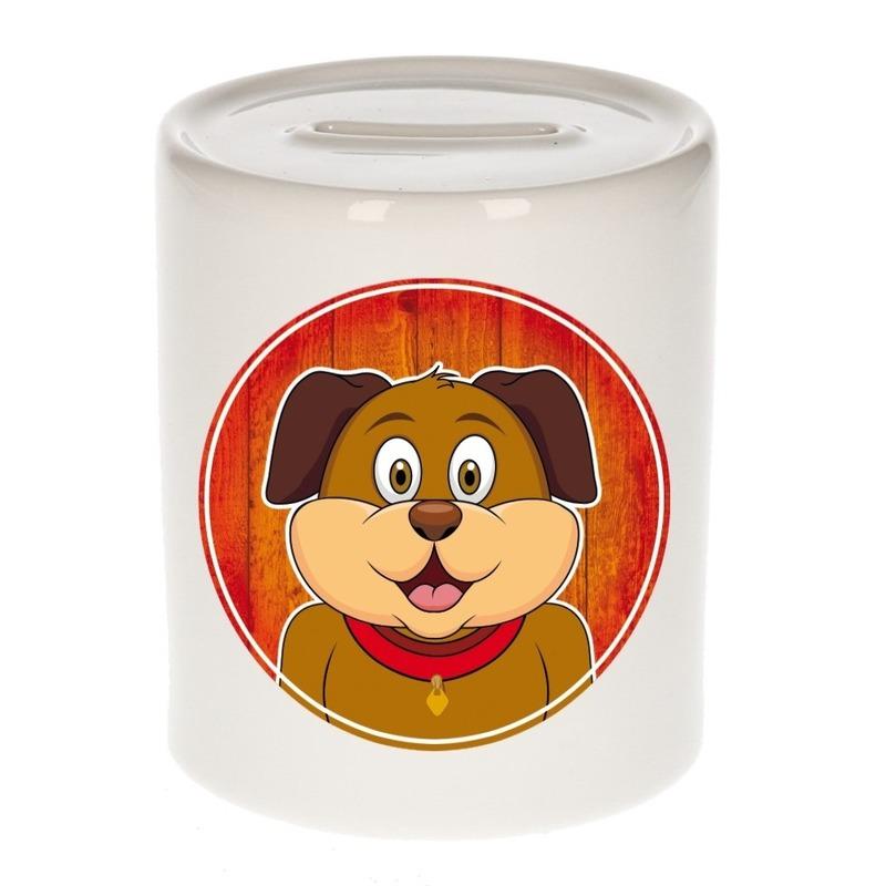 Dieren spaarpot hond voor kinderen 9 cm