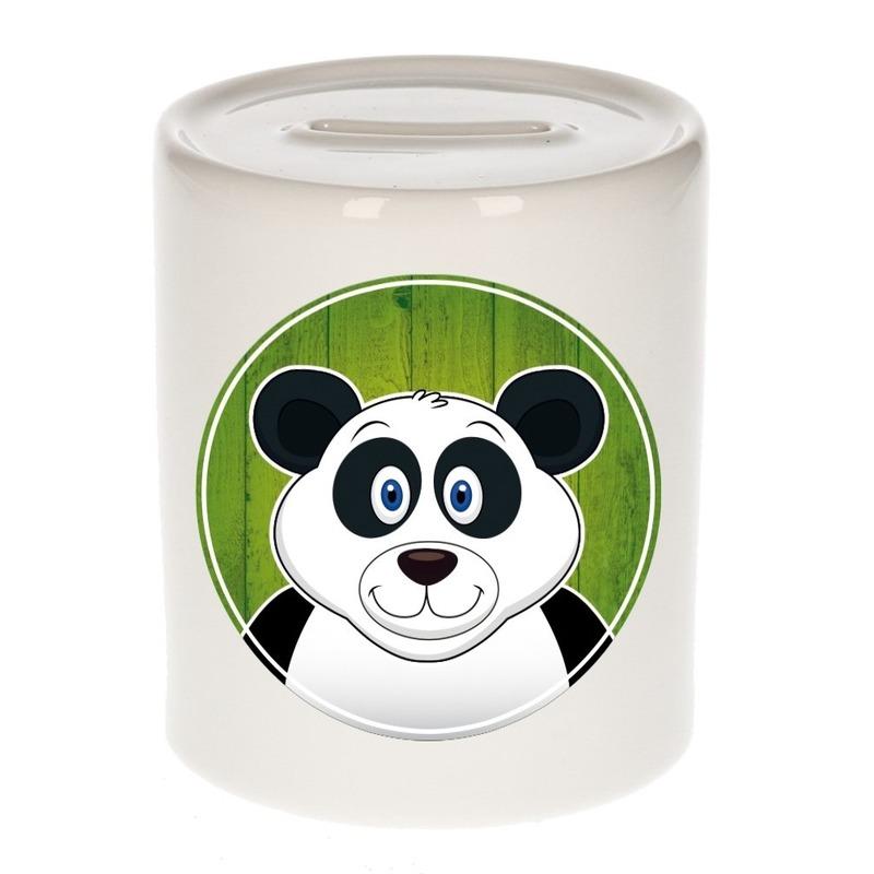 Dieren spaarpot panda voor kinderen 9 cm