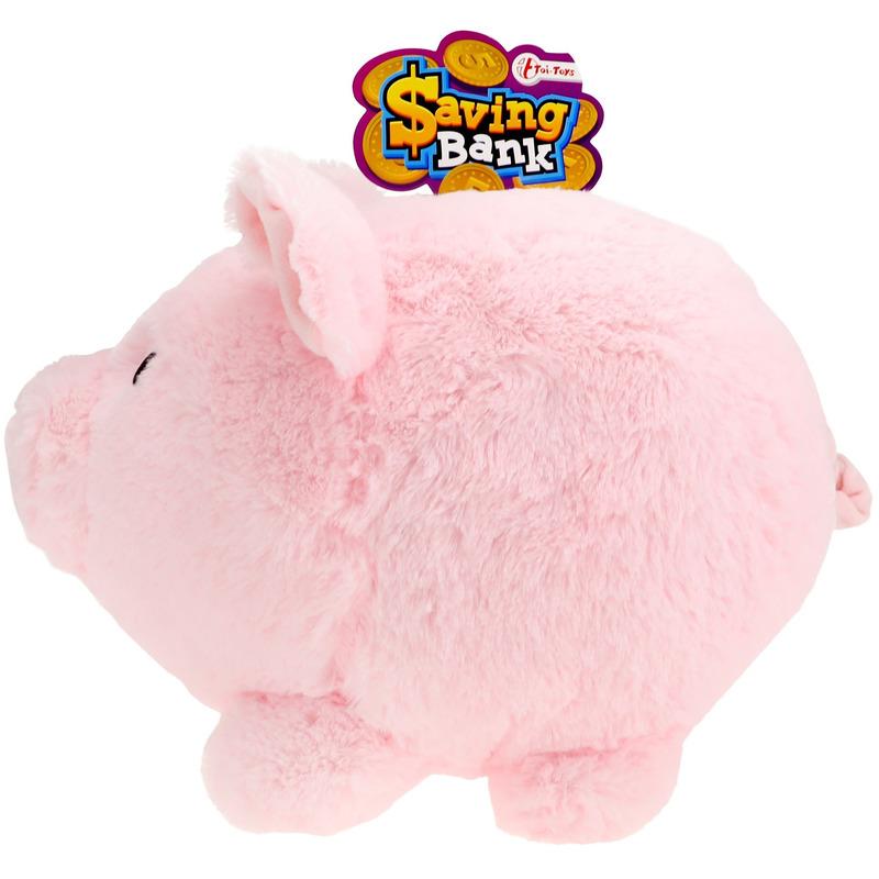 Dieren spaarpot XXL pluche varken/spaarvarken roze 40 cm