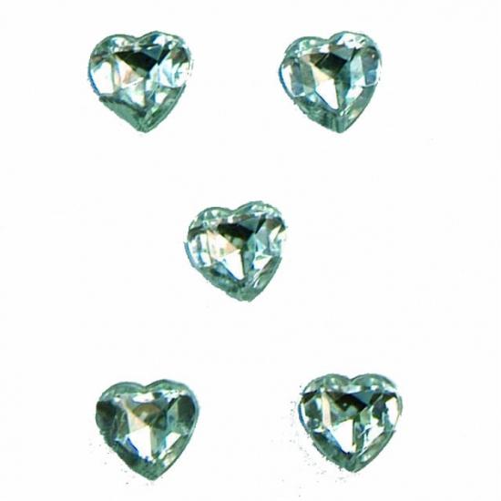 Doorzichtige knutsel of deco diamanten 40 stuks