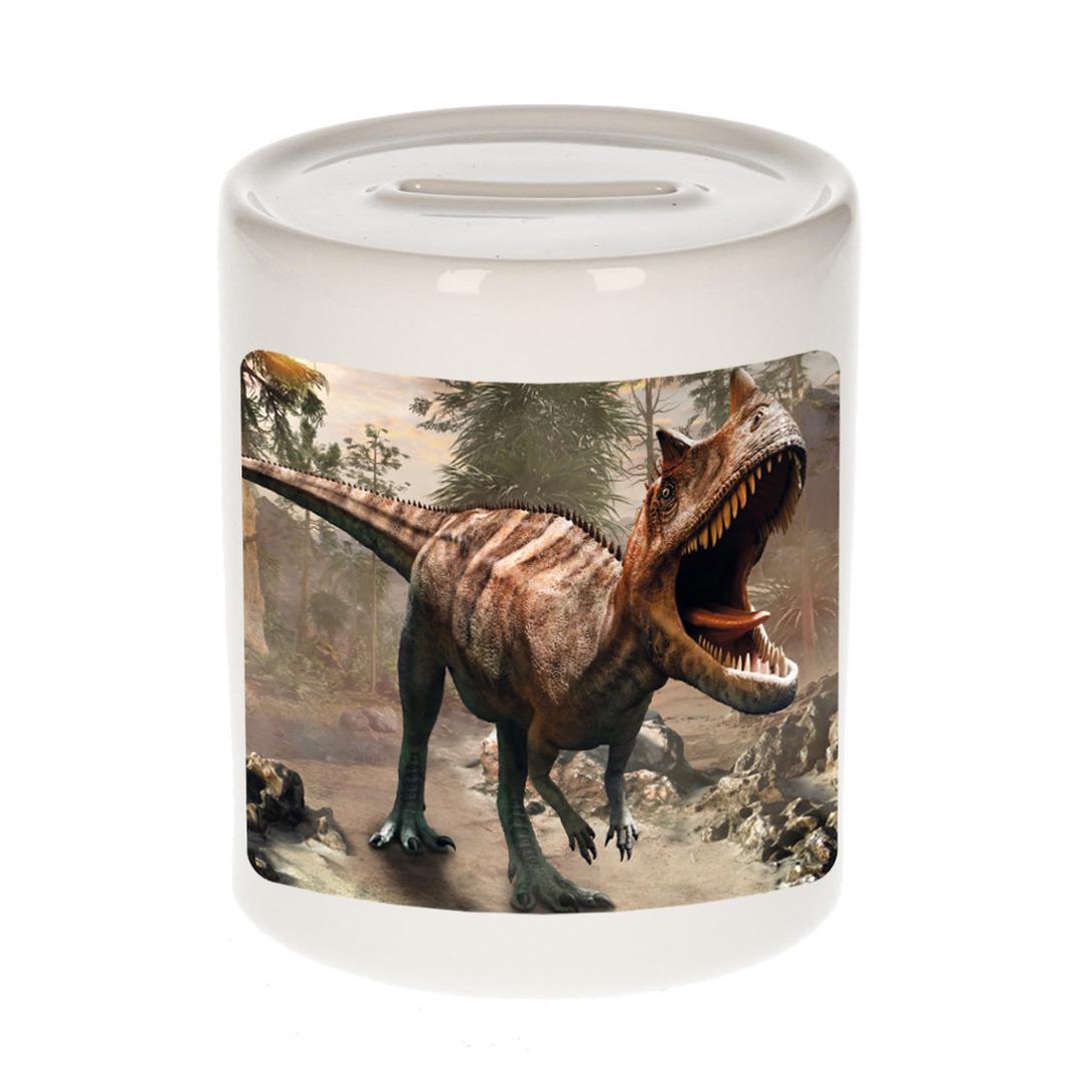 Foto carnotaurus dinosaurus spaarpot 9 cm - Cadeau dinosaurussen liefhebber
