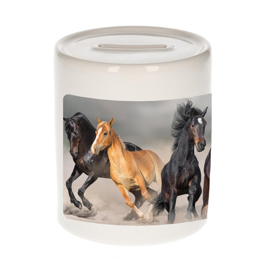 Foto paard spaarpot 9 cm - Cadeau paarden liefhebber