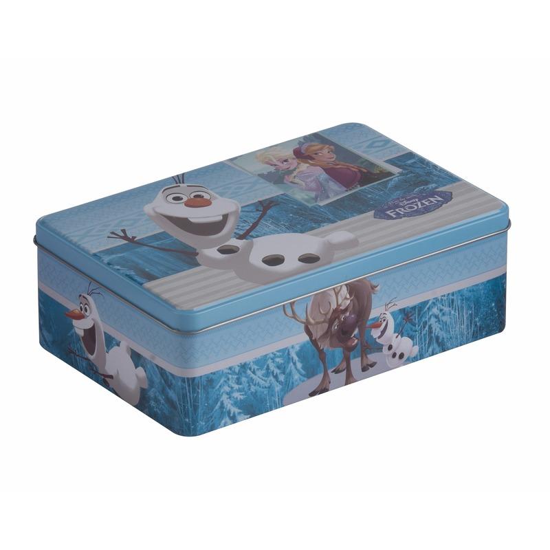 Frozen opbergdoos blauw. een opbergdoos van frozen, tevens te gebruiken als koektrommel of pennendoos. op de ...