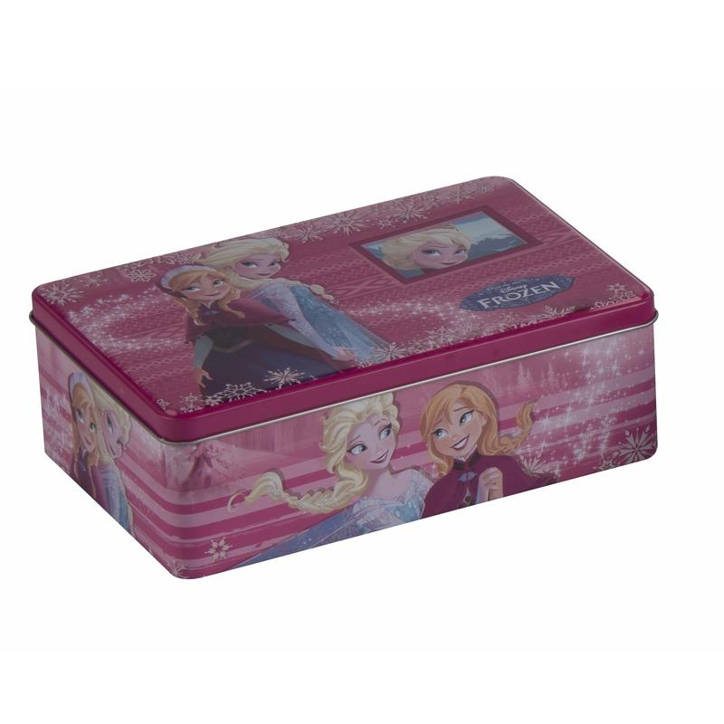 Frozen pennendoos roze Anna en Elsa 20 cm
