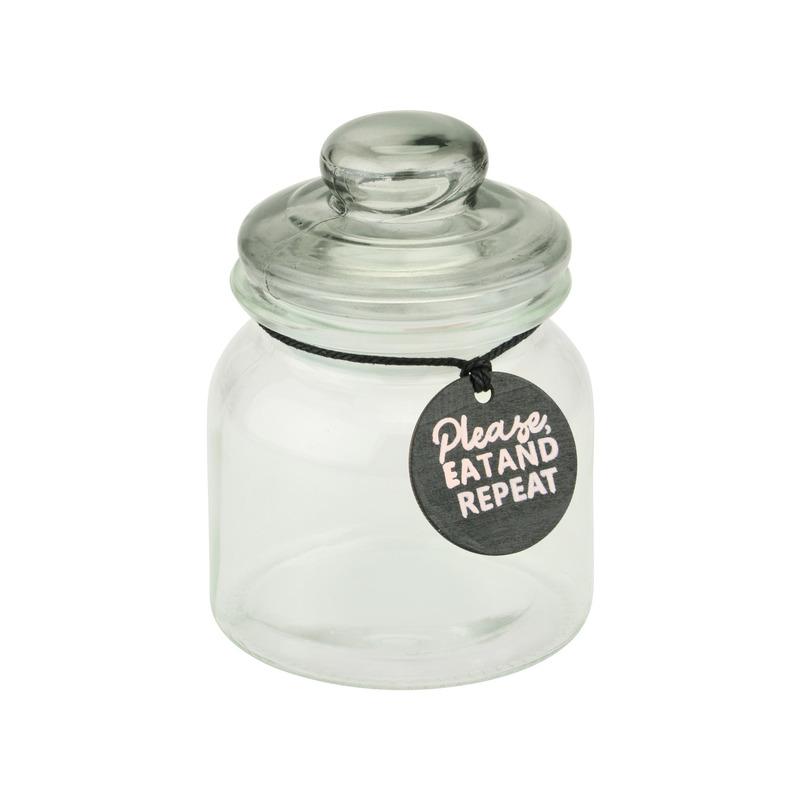 Glazen snoep/koek voorraadpotten van 14 cm
